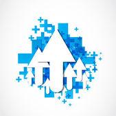 Abstract arrow icon concept — Stock Vector