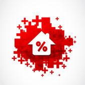Slevy nemovitostí pozadí — Stock vektor