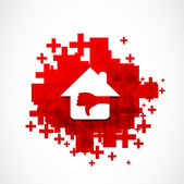 Real estate sales crisis concept — Stock Vector