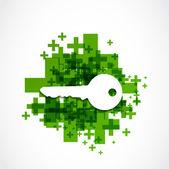 Positive key icon — Vetor de Stock