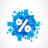 Positive Percent — Stock Vector