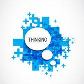 肯定的な思考の雲 — ストックベクタ