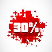 30 процентов продвижение — Cтоковый вектор
