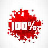 Destockage 100 percent promotion — Stock Vector