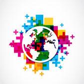 Positive world globe — Stock Vector