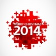 2014 christmas positive background — Imagen vectorial