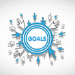 Business goals target — Vector de stock #27090925