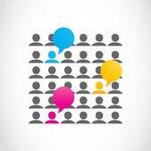 Социальная средств массовой информации во всем мире коммуникации — Cтоковый вектор