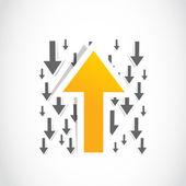 Opposite yellow arrow — Stock Vector