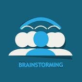 Brainstorming, Sharing ideas — Stock Vector