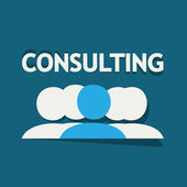Consulting Team — Stock Vector