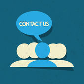 Contact Us! — Stock Vector