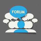 Forum group with speech bubble — Stock Vector