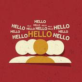 Hello Tagcloud Concept — Stock Vector