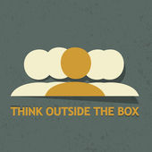 Think outside the box — Stock Vector