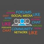 Forums, Community, Social Media — Stock Vector