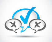 Check mark communication concept — Stock Vector