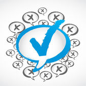 Check sign speech — Stock Vector