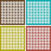 Seamless ornament pattern set — Stock Vector