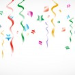 Party Confetti Background — Stock Vector