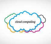 Cloud computing stickers — Stock Vector