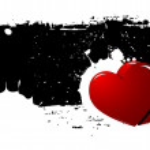 Grunge Heart vector Background — Stock Vector #8126345