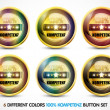 Colorful 100% Kompetenz Button Set — Stock Vector #9812308
