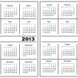 Calendar template. 2013,2014 — Stock Vector #12536664