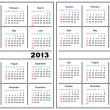 Calendar template. 2013,2014 — Vector de stock #12536664