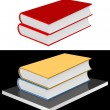 Books on the shelf. - Stock Vector
