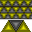 Black and yellow triangles. - Stock Vector