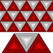White and red triangles - Stock Vector