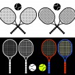 Tennis rackets. — Stock Vector