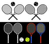 Tennis rackets. — Stock Vector