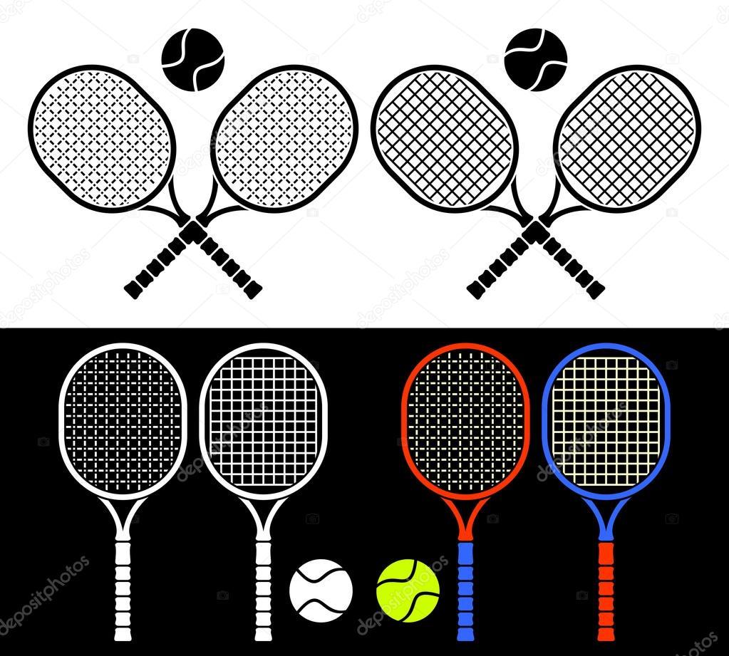 网球拍 — 图库矢量图像08