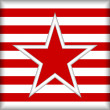 Stylized star on striped background - Stockvectorbeeld