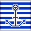 Stylized anchor on a striped background - Stockvectorbeeld