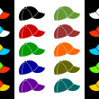 Постер, плакат: Multicolored baseball cap