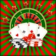 Composition on the Casino. — Stock Vector