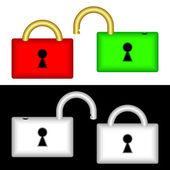 Set of locks — Stock Vector