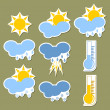 Weather forecast stickers — Stock Vector