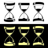 Hourglasses — Vector de stock