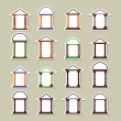 Set of different arches. Stickers  — Imagens vectoriais em stock