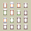 Set of different arches. Stickers  — Image vectorielle