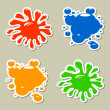 Blots stickers — Stock Vector