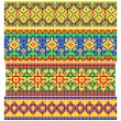 Set of Old Russian patterns  — Stock Vector