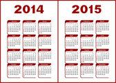 Calendar 2014,2015 — Stock Vector