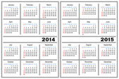 Calendar template. 2014,2015 — Stock Vector