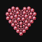 Símbolo de corazón de diamante — Vector de stock