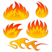 Abstract flame — Stock Vector